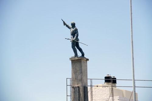 Statue of Francisco Bolognesi at Ovalo Sta. Victoria