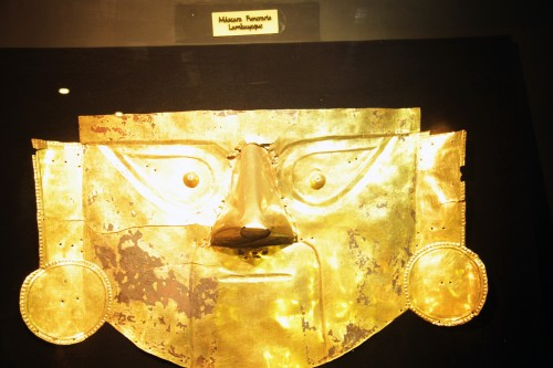 Funeral mask at Museo Arqueológico Brüning