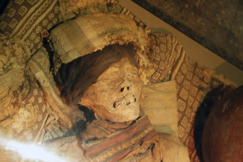 A mummy at the Museo Arqueológico Brüning
