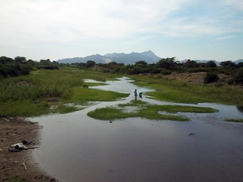 El Rio Zaña at Zaña, Peru