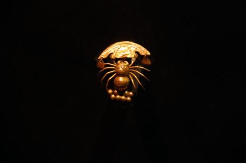spider pendant at the Museo Arqueológico Brüning