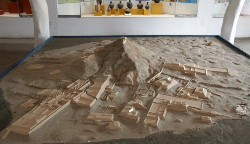 A scale model of Túcume